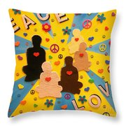 Sit Down And Change The World Throw Pillow