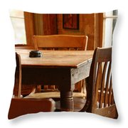 Sit Down For A Spell Throw Pillow
