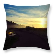 sit With Me And Watch The Sunset Throw Pillow