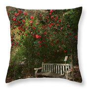 Sit With Me Here Throw Pillow by Laurie Search