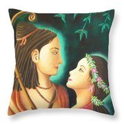 Sita Rama In The Forest Throw Pillow