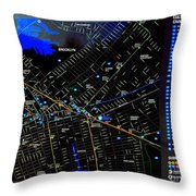 Sites And Subways Throw Pillow
