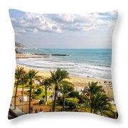 Sitges Spain On The Mediterranean Coast Throw Pillow