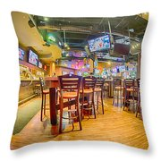 Sitting Area Inside Of A Tavern Bar Restaurant Throw Pillow