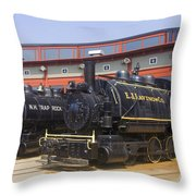 Sitting At The Roundhouse Throw Pillow