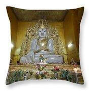 sitting Buddha made from one single marble block in KYAUKTAWGYI PAGODA Throw Pillow