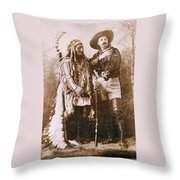 Sitting Bull And Buffalo Bill Throw Pillow