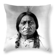 Sitting Bull Throw Pillow by Bill Cannon