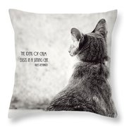 Sitting Cat Throw Pillow