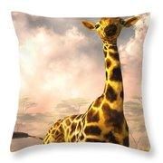 Sitting Giraffe Throw Pillow