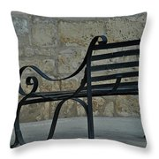 Sitting In Malta Throw Pillow