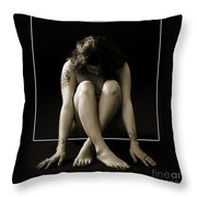 Sitting In The Box 1058.01 Throw Pillow