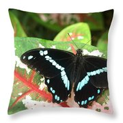 Sitting On A Leaf Throw Pillow