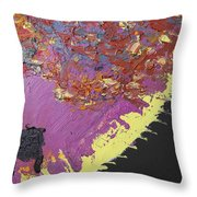 Sitting On The Edge Of The Earth Throw Pillow