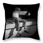 Sitting On The Front Of The Stage 1977 Throw Pillow