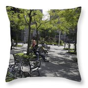 Sitting Place Inside Suntec City In Singapore Throw Pillow