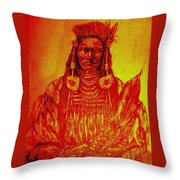 Sitting Proud Throw Pillow by Johanna Elik