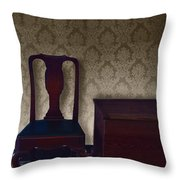 Sitting Room At Dusk Throw Pillow