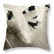 Sitting Together-duotone Throw Pillow