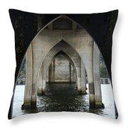 Siuslaw River Bridge Florence Oregon Throw Pillow