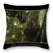 Six Mile Cypress Fort Myers Florida Throw Pillow