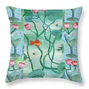 Six Of Cups Throw Pillow