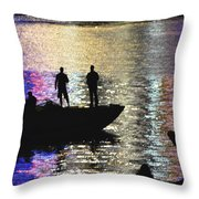 Six On A Boat Throw Pillow