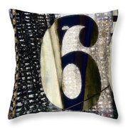 Six On The Line Throw Pillow by Carol Leigh