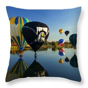 Six On The Pond Throw Pillow