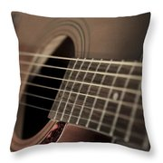 Six String Throw Pillow