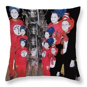 Six Things Halloween Party Collage Casa Grande Arizona 2005-2012 Throw Pillow