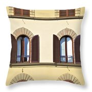 Six Windows Of Florence Throw Pillow