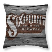 Sixpoint Brewery Throw Pillow