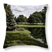 Sixth Hole Reflections Throw Pillow