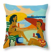 Sizzling Summer Throw Pillow