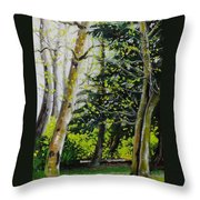 Skagit Valley Forest Throw Pillow