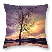 Skaha Lake On A Saturday Morning Throw Pillow