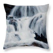 Skalkaho Waterfall Throw Pillow