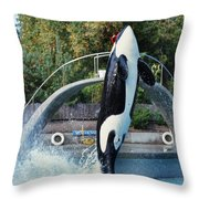 Skana Orca Vancouver Aquarium 1974 Throw Pillow