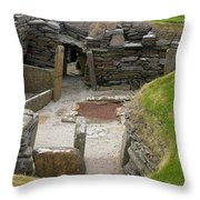 Skara Brae Dwelling Throw Pillow