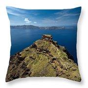 Skaros On Santorini Throw Pillow