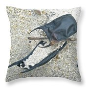 Skate Egg Cases On Sand Throw Pillow