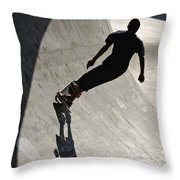 Skateboard Shadow - D001936 Throw Pillow