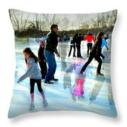 Skaters Throw Pillow