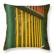 Skc 3266 Colorful Gate Throw Pillow