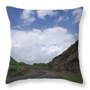Skc 3557 Drive Up The Mountain Throw Pillow