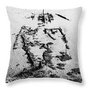 Skeleton Boat Throw Pillow