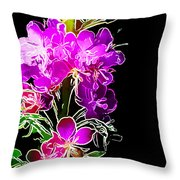 Sketchy Blooms Throw Pillow
