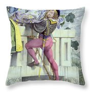 Sketch For The Passions Love Throw Pillow by Richard Dadd