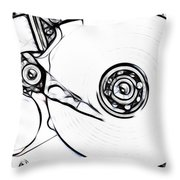 Sketch Of The Hard Disk Throw Pillow by Michal Boubin
